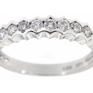 Natural Diamond Stackables Wedding Band White Gold